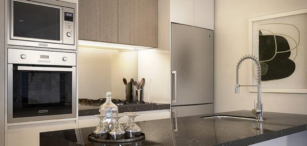 Avantra Apartments – Kitchen Dark Option